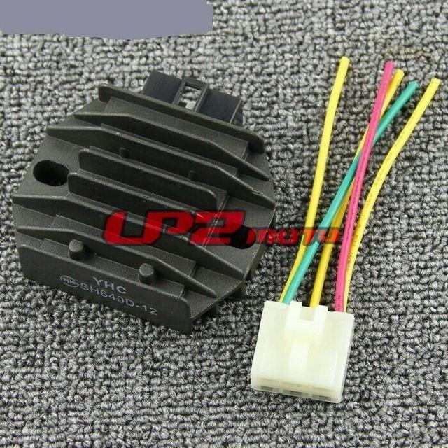 Rectificador regulador + enchufe para Suzuki DR650SE 96-12 XF650 Freewind 97-07 Aprilia Mojito SportCity Scarabeo 125 150 200 03-08