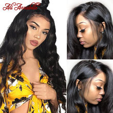 13X6 Body Wave Lace Front Human Hair Wigs PrePlucked With Baby Hair Remy Peruvian Hair Wigs Ali Anabelle Perruque Cheveux Humain(China)