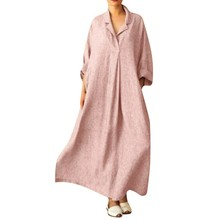 Summer dress, loose long sleeve shirt Bohemia and ankle comfortable, fashion brand style