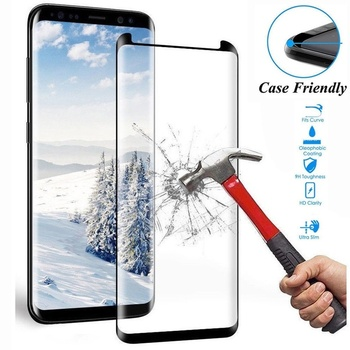 9H Protective Tempered Glass for Samsung Galaxy S8 S9 Plus S7 Edge/ Note 8 9 10 Screen Protector 3D Curved Glass Film Case Cover image