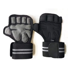 2019 Weight Lifting Training Gloves Wrist Straps Fitness Bodybuilding Gymnastics Grips Hand Palm Protector Synthetic Fibers