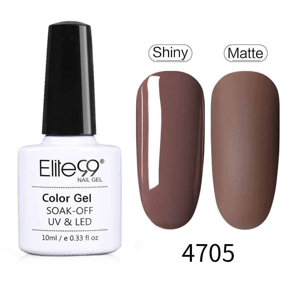 Elite99 10ml Macchiato สีเล็บเจลโปแลนด์ Matte Effect UV เจลเล็บ Top เจล Soak Off เจล lacquer Lucky สีเล็บ