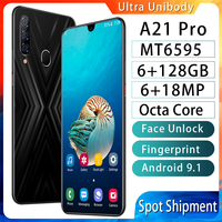 Cheap phone A21pro Mobile phone 6.3 inch Water Drop Screen 4G Cellphone 6GB+128GB Smartphone 6MP+18MP Unlocked smartphone