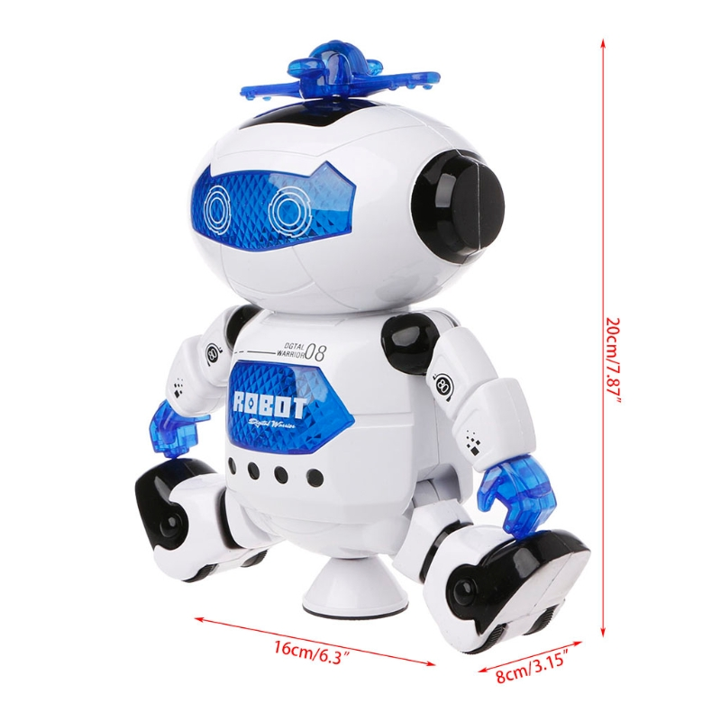 Electronic Walking Dancing Robot Toys With Music Lightening For Kids  QX2D