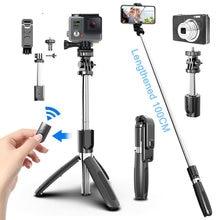 4 In1 Bluetooth bezprzewodowy statyw do Selfie składany i monopody uniwersalny do smartfonów do Gopro i sportowe kamery sportowe