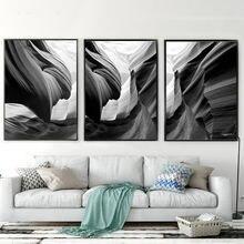 Черно белый постер абстрактное настенное искусство скандинавский