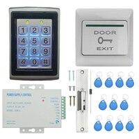Sistema de controle de acesso da porta  cartão de controle de acesso senha porta sistema de segurança em casa kit com 150 ka fechadura cátodo (TZF005 03)|  -