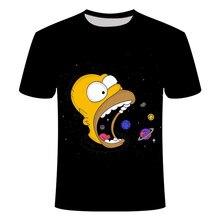 2020 nova impressão 3d simpson roupas juventude camisa para crianças harajuku homens e mulheres