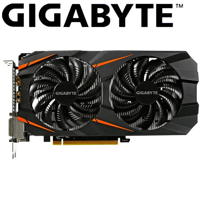Carte graphique Gigabyte GTX 1060 WINDFORCE OC 3G NVIDIA GeForce intégrée avec mémoire GDDR5 192bit de 3 go pour cartes d'ordinateur de jeu