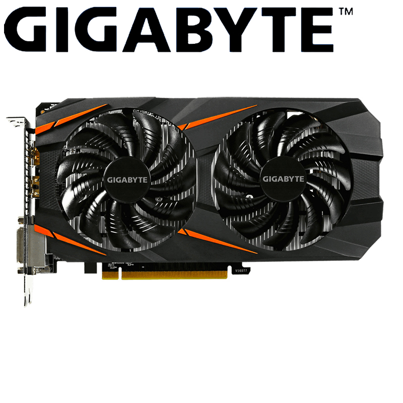 Gigabyte Graphics Card GTX 1060 WINDFORCE OC 3G NVIDIA GeForce Integrated with 3GB GDDR5 192bit memory for Gaming Computer Cards image