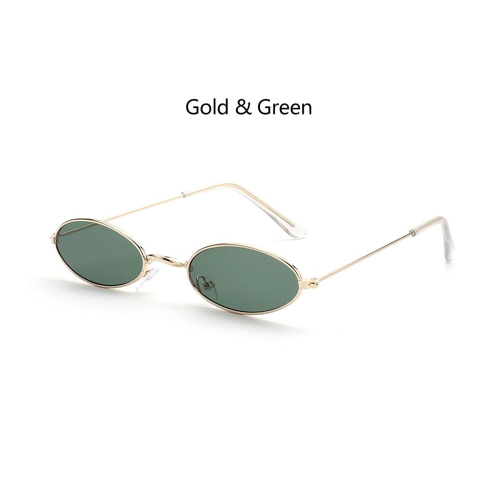 Fashion Vintage Shades Sun Glasses Elegant okulary Retro Small Oval Sunglasses for Men Women Eyeglasses gafas oculos 12