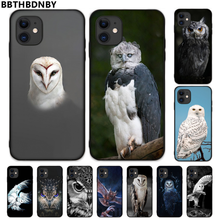 Voor Iphone 7 Uil Tpu Black Phone Case Cover Romp Voor Iphone 5 5S Se 5C 6 6S 7 8 Plus X Xs Xr 11 Pro Max(China)