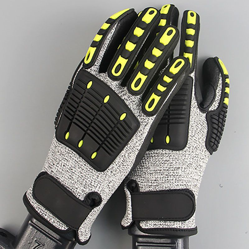 Outdoor Anti-collision Rescue Mechanical Gloves Non-slip Wear-resistant Oil Proof Shockproof Hand Protection Safety Work Gloves