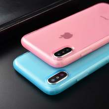 Keren Permen Warna Bening Phone Case untuk iPhone 11 Pro 11pro X Max X XR TPU Anti Knock Case untuk iPhone 7 6 6S 7 Plus Soft Cover(China)