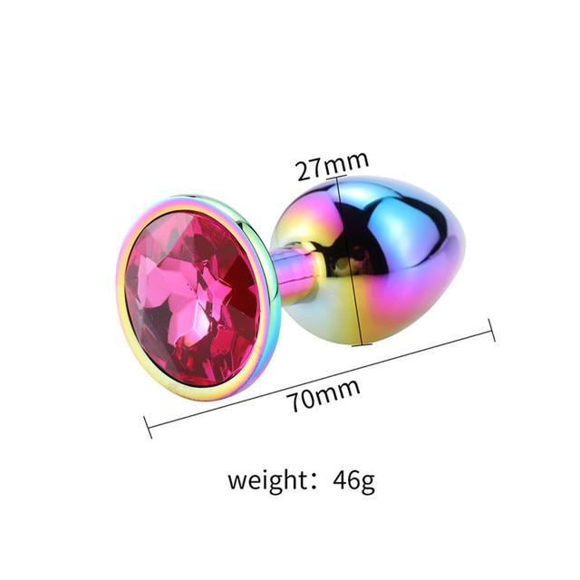 Size Rainbow diamond wine anal plug