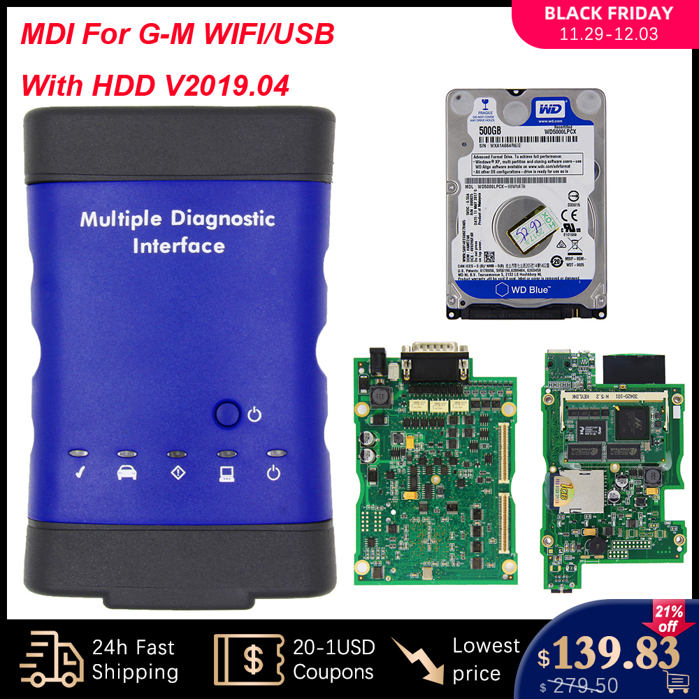 MDI For GM V2019.04 Multiple Diagnostic Interface OBD2 WIFI USB Scanner OBD 2 OBD2 Car Diagnostic Auto Tool MDI wi fi Scanner-in Battery Measurement Units from Automobiles & Motorcycles on