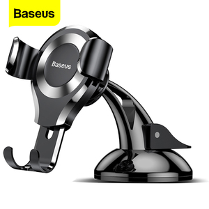 Baseus Gravity Car Phone Holder For iPhone 11 Pro Max Samsung Suction Cup Car Holder For Phone in Car Mobile Phone Holder Stand(China)