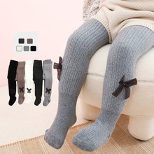 12pcs Wholesale Newest Children's Pantyhose Ballet Style Lovely Bow Girls Pantyhose Baby Leggings Knitted Cotton Kids Stockings