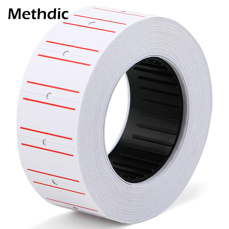 Methdic 21*12 Mm 10 Rolls Custom Single-sided  Price Label 600 Stickers For Supermarket Price