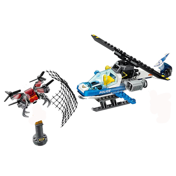 New City Toys Sky Police Drone Chase Compatible Lepining City 60207 Building Blocks Figure Bricks for Children Christmas Gift 2020 new city police station bela compatible lepining city 60141 60047 60140 building blocks toys for children birthday gift