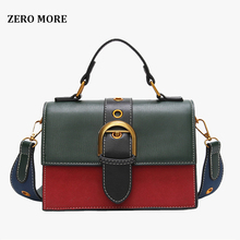 купить Bags for Women 2018 Fashion New Quality PU Leather Women bag Hit color Portable Shoulder Messenger Bag Travel Tote Crossbody bag по цене 714.1 рублей