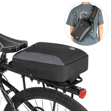 2-in-1 Bicycle Trunk Bag Casual Chest Sling Pack Bag Waterproof Cycling Bike Rear Rack Carrier Pannier Adjustable shoulder bag casual 2 in 1 round neck cold shoulder top in blue