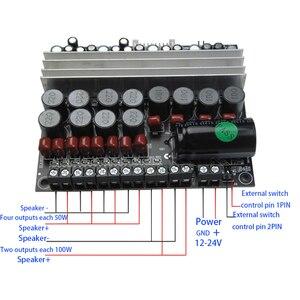 Image 5 - Tenghong MT5.1 الرقمية مكبر كهربائي مجلس 100W * 2 5.1 قناة واحدة الطاقة DC12 24V أمبير للمنزل المسرح مضخم الصوت مجلس