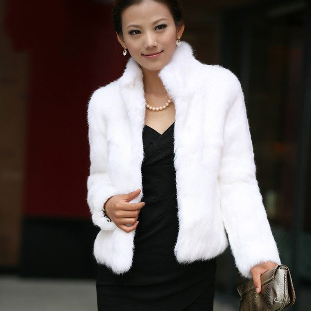 High Quality Faux Fur Coat Women's Warm Outerwear Autumn Winter Short Imitation Fur Coat Jacket Plus Size 3XL Overcoat Clearance
