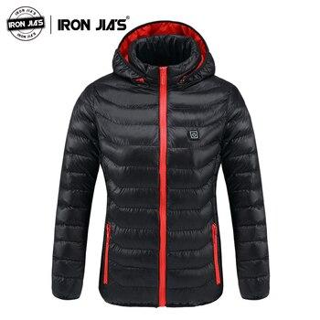 IRON JIA'S Motorcycle Jacket Women Autumn Winter USB Infrared Heating Jacket Moto Windproof Jacket Thermal Motorbike Jacket
