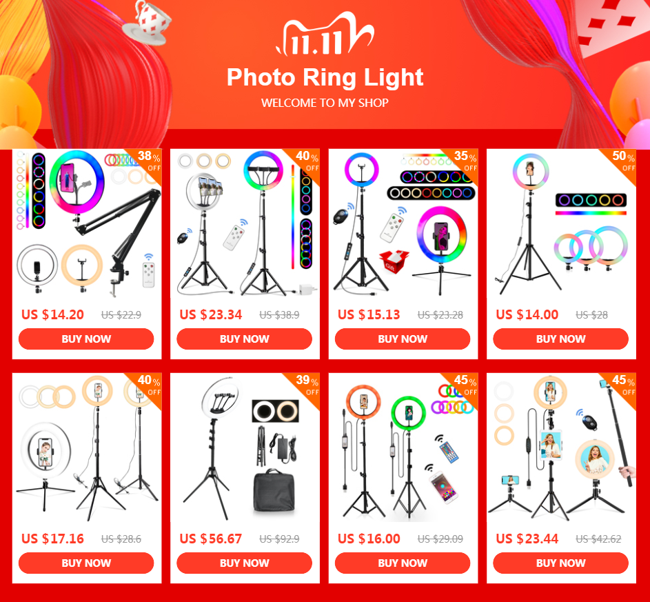 H804c5ad9e0cc462aa76eee0a1143f2fcH 10 Inch Rgb Video Light 16Colors Rgb Ring Lamp For Phone with Remote Camera Studio Large Light Led USB Ring 26cm for Youtuber