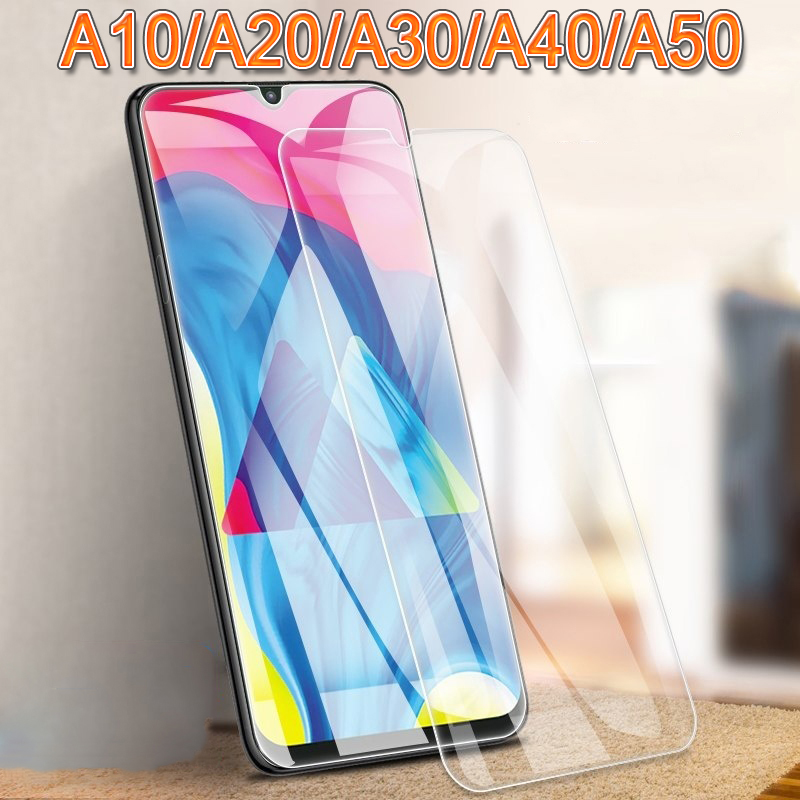 A 20 Protective Glass On For Samsung A50 A40 A30 A20 A10 <font><b>50</b></font> <font><b>40</b></font> 30 10 Screen Protector cam Galaxy Armor sheet Tempered Glas Film image