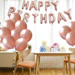 Image 5 - Chicinlife Rosegold украшение для 30 го дня рождения с номером воздушного шара, соломенные бумажные тарелки, коробка для попкорна для взрослых 30 лет, товары для дня рождения