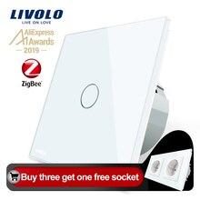 Livolo EU Standard Zigbee Smart Home Wall Touch Switch Touch WiFi APP Control google home control