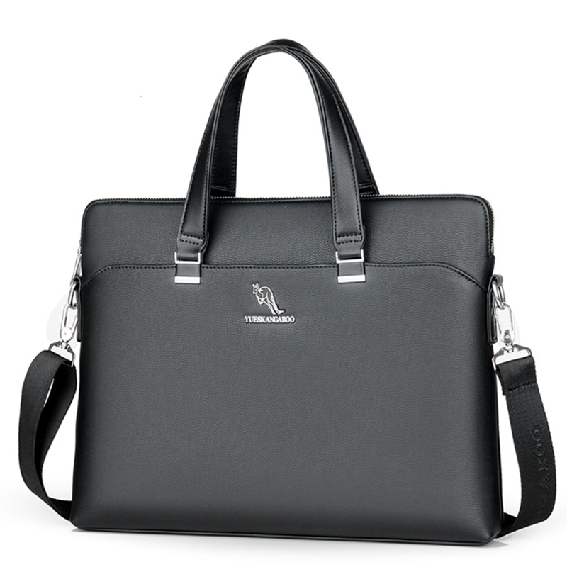 New Men's Briefcase Leather Man Shoulder Business Large Laptop Bags Office Bags For Men Lawyer Computer Bag Male Tote Bags