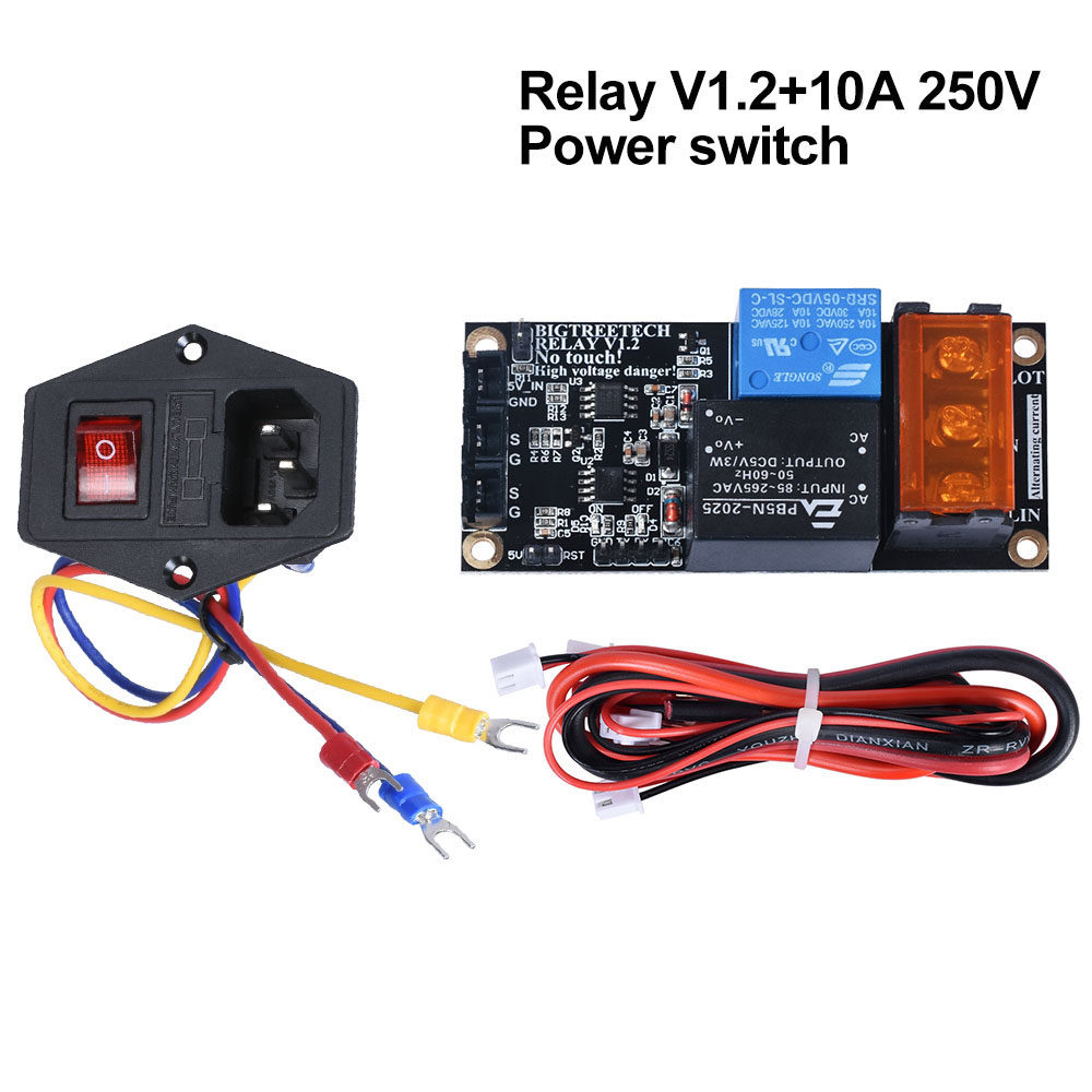 BIGTREETECH Relay V1 2 Power Monitoring Module 10A 250V Power Rocker switch For SKR V1 3 PRO E3 CR10 Extruder 3D Printer Parts