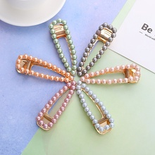 New Fashion Solid Color Pearl Hair Clips Hairclip Snap Hair Barrettes Hairpin for Women Barrettes for Girls Hair Accessories chic solid color crown arrow hairpin for women