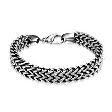 316L браслет из нержавеющей стали для мужчин, роскошные мужские талисманы, браслет в винтажном стиле, модные ювелирные изделия, цепочка, кубинские звенья, браслет для мужчин, pulseira