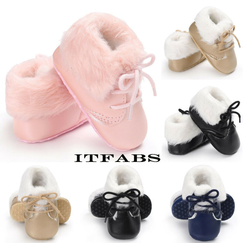 Winter Kids Baby Girl Slip-on Shoes Boots Shoes Toddler Infant Plush Soft Sole Snow Booties 0-18 Months