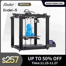 Creality Drukarka 3D Ender 5, duży rozmiar druku, wbudowana płyta, funkcja wyłączania, łatwe wznowienie drukowania, rdzeń X Y