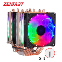 6 heat-pipes RGB CPU Cooler radiator Cooling 3PIN 4PIN 2 Fan For LGA 1150 1155 1156 1366 2011 X79 X99 Motherboard AM2/AM3/AM4