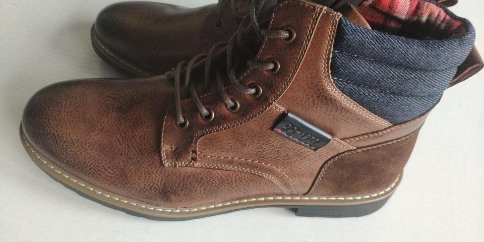 DECARSDZ - Boots Homme à lacets