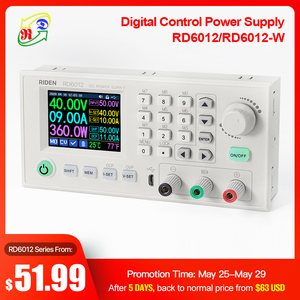 RD RD6012 RD6012W USB WiFi DC - DC Voltage current Step-down Power Supply module buck Voltage converter voltmeter 60V 12A bb(China)