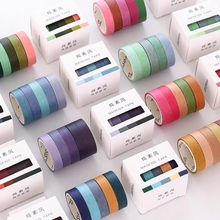 5pcs/lot Fall Rainbow Masking Washi Tape Set Crafts and Scrapbooking Paper Decor Japanese Stationery Office Supplies Stickers