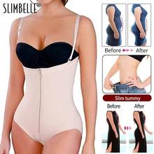 Full Body Shaper Women Waist Trainer Corset Zippers Bodysuit Slimming Shapewear Butt Lifter Tummy Control Adjustable Underwear