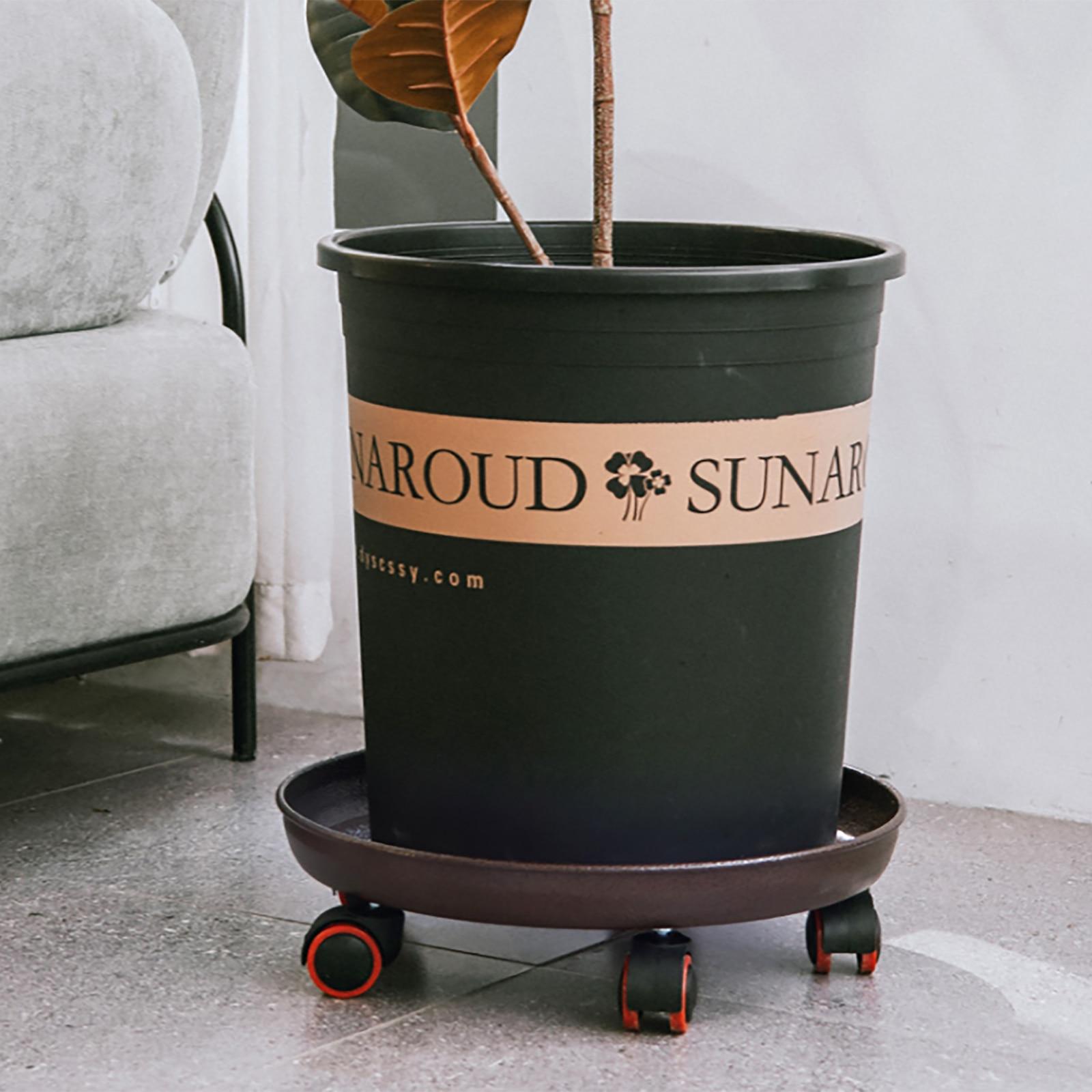 Съемный цветок горшок лоток универсальный колеса круглый пластик лоток цветок горшок стойка растение подставка катание горшок растение подставка