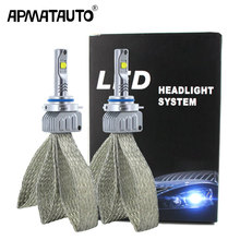2 sztuk Plug & Play H7 samochodów LED światła h4 h8 h11 HB3 HB4 9006 9012 9005 H16(JP) dla XHP50 chipy 9000lm 12V reflektor samochodowy żarówka
