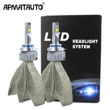 Lâmpada de led para carro, 2 peças, plug & play, h7, h4, h8, h11, hb3, hb4, 9006, 9012, 9005, h16 (jp)) para xhp50 chips 9000lm 12v lâmpada de farol de automóvel