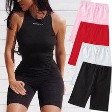 szorty Spodenki damskie spodnie seksowne spodenki dla motocyklisty cienkie Fitness Casual wysokiej talii letnie szczupłe spodnie do kolan spodnie dla kobiet spodenki rowerowe moda szorty spodnie dresowe shorts summer