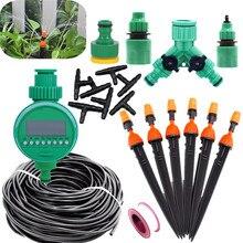 5 25m Zerstäubung Micro Sprinkler Mit Wasser Timer Tropf Bewässerung Ausrüstung Familie Balkon Garten Timing Automatische Bewässerung Kits