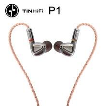 TINHiFi P1 Hifi אוזניות אין מיקרופון פח אודיו P1 עם MMCX כבל אוזניות